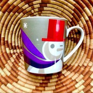 STARBUCKS Snowman Christmas Holiday Coffee Mug Cup